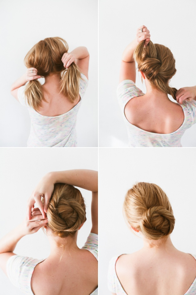 An elegant hairstyle in 5 minutes