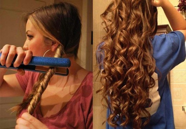 Quick curls for long hair