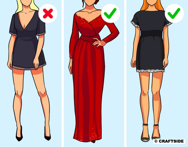 Opt for either a miniskirt or cleavage. Both at once look too vulgar.