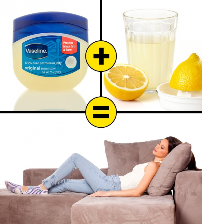 Vaseline and lemon juice