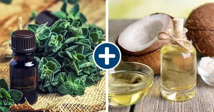 Oregano oil and coconut oil