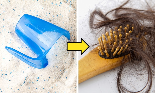 Lighten hair with laundry detergent
