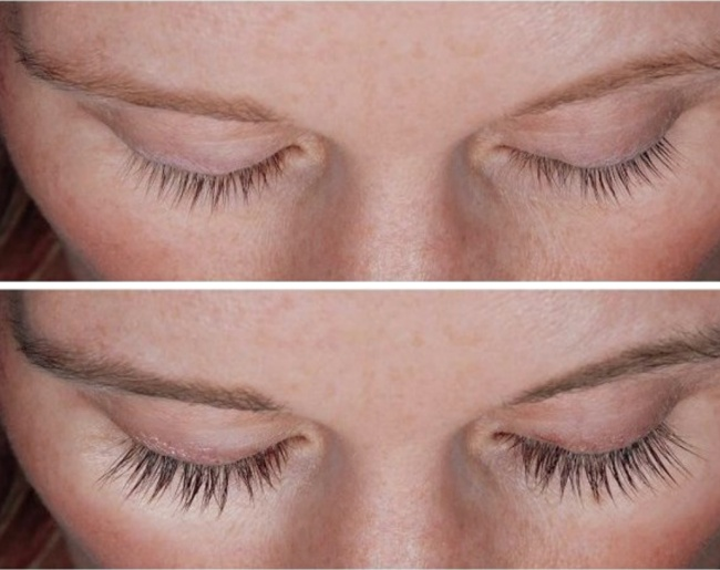 Use a mixture of coconut oil and lavender to lengthen the eyelashes