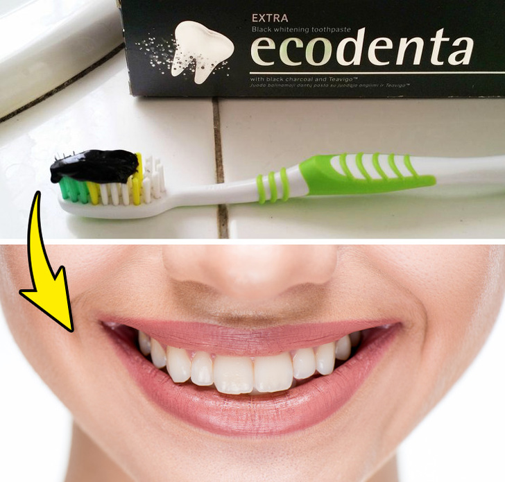 Activated charcoal to whiten teeth