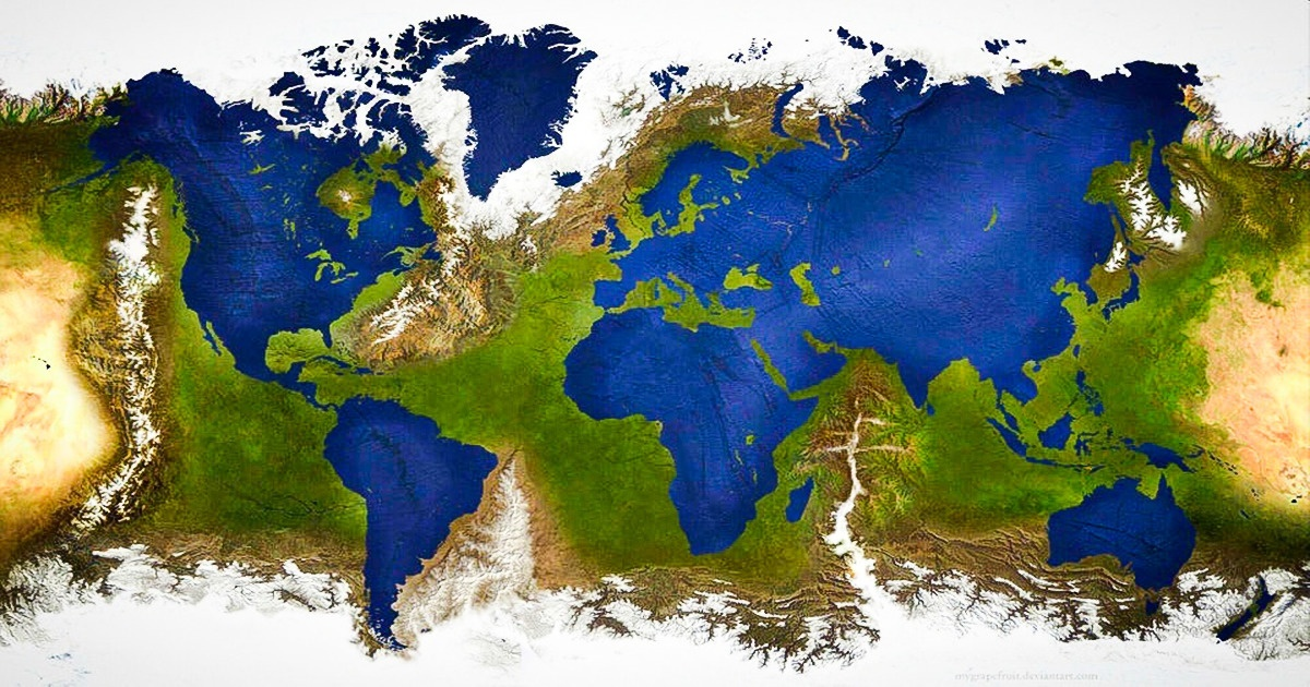 What Would Happen If Land and Water Switched Places