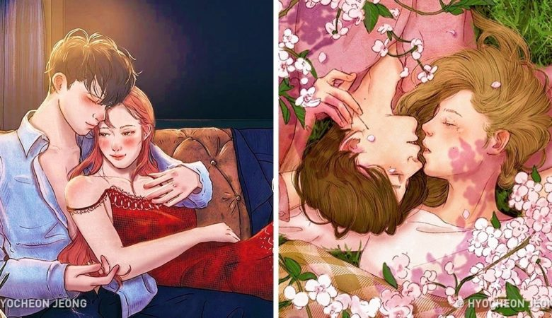 18 Illustrations Capture The Beauty Of Falling In Love