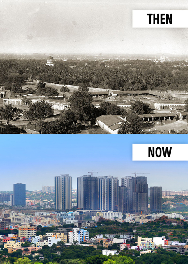 10 Amazing Cities Before And After Over the Years