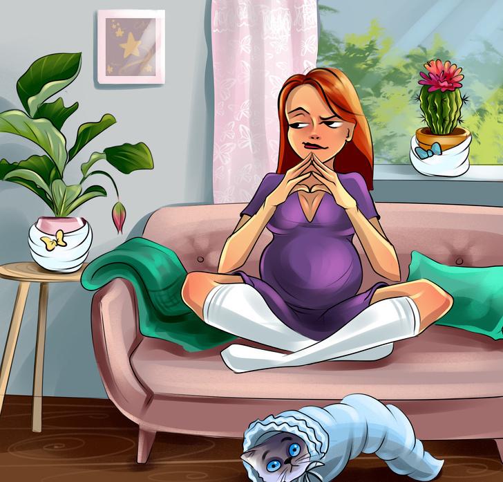 Illustrations of women Everyday Pregnancy Problems