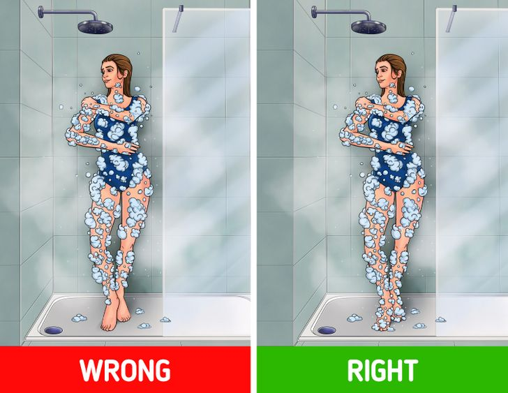 5 Body Parts You Might Be Washing Wrong When Bathing